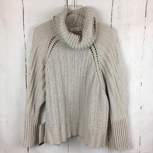Lou & Grey   Chenille Turtleneck Poncho Sweater
